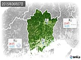 2015年06月07日の岡山県の実況天気