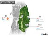 2015年06月07日の岩手県の実況天気