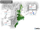 2015年06月09日の三重県の実況天気