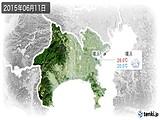 2015年06月11日の神奈川県の実況天気