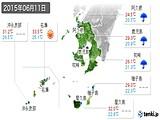 2015年06月11日の鹿児島県の実況天気