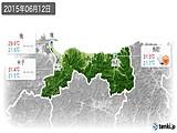 2015年06月12日の鳥取県の実況天気