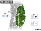 2015年06月12日の岩手県の実況天気