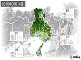 2015年06月14日の兵庫県の実況天気