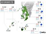2015年06月17日の鹿児島県の実況天気