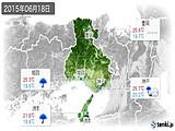 2015年06月18日の兵庫県の実況天気