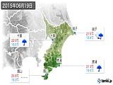 2015年06月19日の千葉県の実況天気