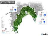 2015年06月22日の高知県の実況天気
