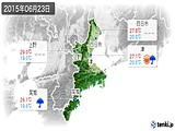 2015年06月23日の三重県の実況天気