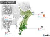 2015年06月24日の千葉県の実況天気