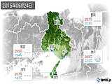 2015年06月24日の兵庫県の実況天気