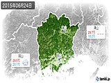 2015年06月24日の岡山県の実況天気
