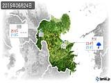 2015年06月24日の大分県の実況天気