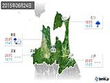 2015年06月24日の青森県の実況天気