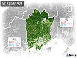 2015年06月25日の岡山県の実況天気