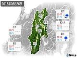 2015年06月26日の長野県の実況天気
