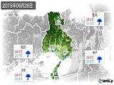 2015年06月26日の兵庫県の実況天気