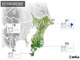 2015年06月28日の千葉県の実況天気