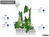 2015年06月28日の青森県の実況天気
