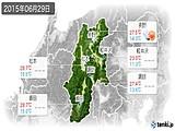 2015年06月29日の長野県の実況天気