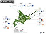 2015年07月07日の北海道地方の実況天気