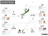2015年07月28日の沖縄県の実況天気