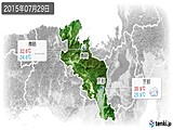 2015年07月29日の京都府の実況天気