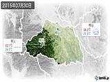 2015年07月30日の埼玉県の実況天気