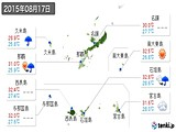 2015年08月17日の沖縄県の実況天気