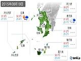 2015年08月19日の鹿児島県の実況天気