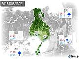 2015年08月30日の兵庫県の実況天気