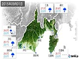 2015年09月01日の静岡県の実況天気