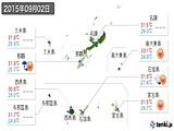 2015年09月02日の沖縄県の実況天気