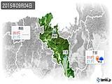 2015年09月04日の京都府の実況天気