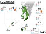 2015年09月04日の鹿児島県の実況天気