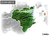 2015年10月21日の徳島県の実況天気