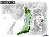 2015年10月27日の大阪府の実況天気