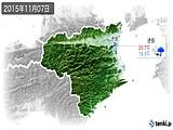 2015年11月07日の徳島県の実況天気