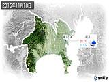 2015年11月18日の神奈川県の実況天気