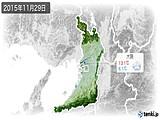 2015年11月29日の大阪府の実況天気