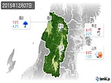 2015年12月07日の山形県の実況天気