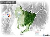 2015年12月16日の愛知県の実況天気