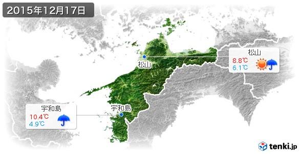 愛媛県(2015年12月17日の天気