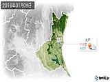2016年01月09日の茨城県の実況天気