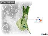 2016年01月10日の茨城県の実況天気