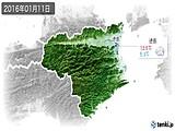 2016年01月11日の徳島県の実況天気