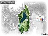 2016年01月24日の滋賀県の実況天気