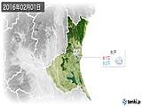 2016年02月01日の茨城県の実況天気