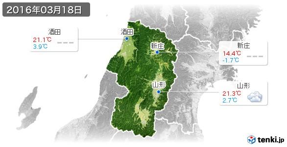 山形県(2016年03月18日の天気