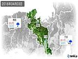 2016年04月03日の京都府の実況天気